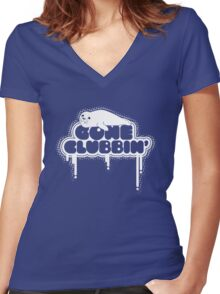 Gone Clubbin' V2 Women's Fitted V-Neck T-Shirt