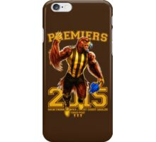 'The Mighty Premiers From Hawthorn' 2015 Print By Grange Wallis iPhone Case/Skin
