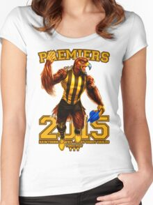 'The Mighty Premiers From Hawthorn' 2015 Print By Grange Wallis Women's Fitted Scoop T-Shirt