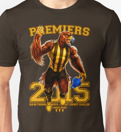 'The Mighty Premiers From Hawthorn' 2015 Print By Grange Wallis Unisex T-Shirt