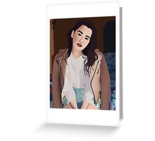 Emilia Clarke Greeting Card
