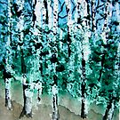 Green Birches by pinetreeart