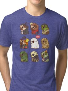 Puglie Halloween Tri-blend T-Shirt