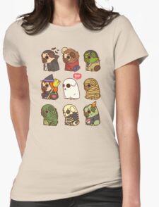 Puglie Halloween Womens Fitted T-Shirt