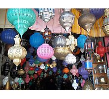 Beautiful Moroccan Lamps Hanging In The Marrakech Souk Photographic Print