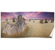 World Famous Pinnacles Desert, Western Australia Poster