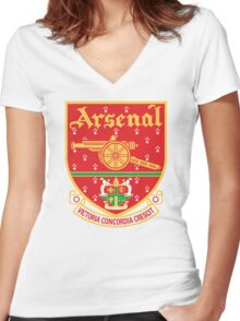 Arsenal FC Retro Women's Fitted V-Neck T-Shirt