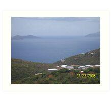 Island view Art Print