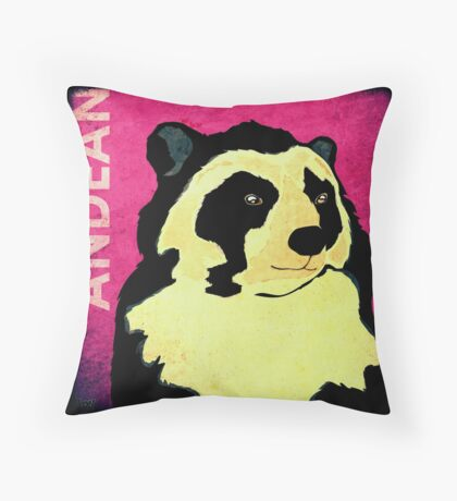 Andean Bear (Rustic) Throw Pillow