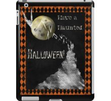 Have a Haunted Halloween, All Hallows Eve holiday art iPad Case/Skin