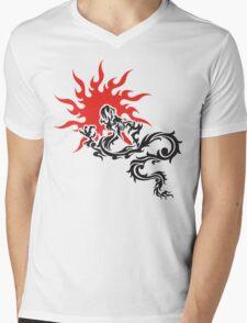 Chinese Dragon Mens V-Neck T-Shirt