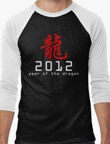 Chinese New Year 2012 Men's Baseball ¾ T-Shirt