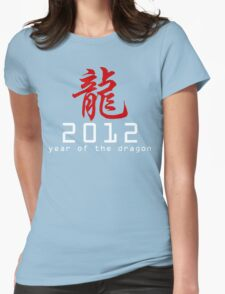 Chinese New Year 2012 Womens Fitted T-Shirt