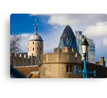 Tower and Gherkin Canvas Print