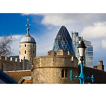 Tower and Gherkin Photographic Print