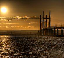 Severn Bridge Sunset by Rob Hawkins