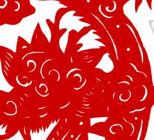 Year of The Dragon 2012 Paper Cut Sticker
