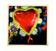 Flaming Corazón Art Print