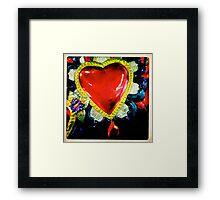 Flaming Corazón Framed Print