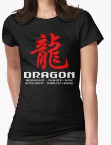 Chinese Zodiac Dragon Characteristics Womens Fitted T-Shirt