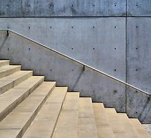 Staircase, Pulitzer Foundation of the Arts, Tadao Ando by Crystal Clyburn