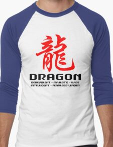 Chinese Zodiac Dragon Characteristics  Men's Baseball ¾ T-Shirt