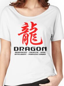 Chinese Zodiac Dragon Characteristics  Women's Relaxed Fit T-Shirt