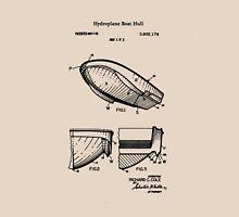 1971 Hydroplane Boat Hull Patent Unisex T-Shirt