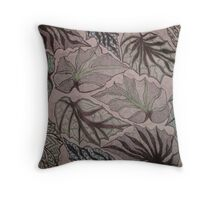 Angel Wing Begonia Leaves Throw Pillow
