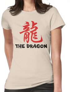 Chinese Zodiac Dragon Womens Fitted T-Shirt