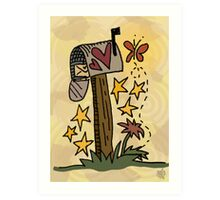 Country Mail Art Print