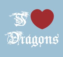 I Love Dragons One Piece - Short Sleeve