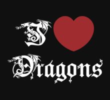 I Love Dragons Baby Tee