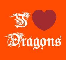 I Love Dragons Kids Clothes