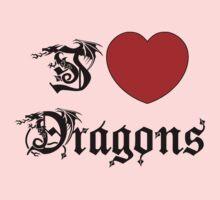 I Love Dragons Kids Tee