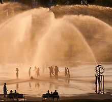 Whirlpool Compass Fountain - St. Joseph Michigan by John Hartung