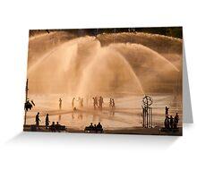 Whirlpool Compass Fountain - St. Joseph Michigan Greeting Card