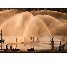 Whirlpool Compass Fountain - St. Joseph Michigan Photographic Print