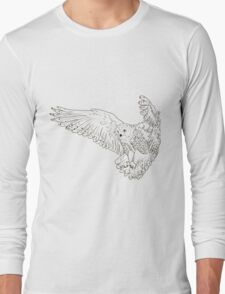 Owl hand drawn Long Sleeve T-Shirt