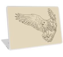 Owl hand drawn Laptop Skin