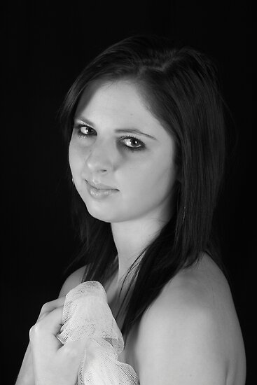 Zoe in Portrait B&W by Glynn Jackson