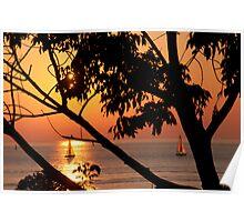 """""""Lake Michigan Sunset"""" Poster"""