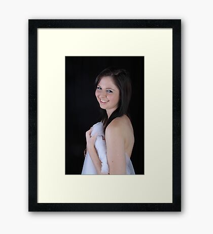 Zoe - The Smile says it all/// Framed Print