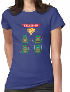 TMNT 8-bit Womens Fitted T-Shirt