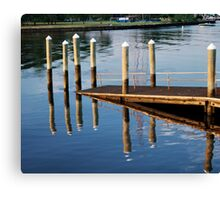 Pier-iod Illusion Canvas Print