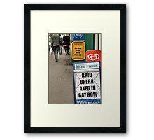 comedy signs  in bridlington Framed Print