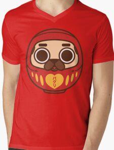 Puglie Daruma Mens V-Neck T-Shirt