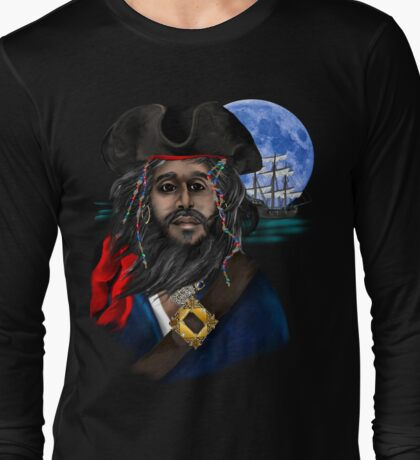 Pirate and Ship Long Sleeve T-Shirt