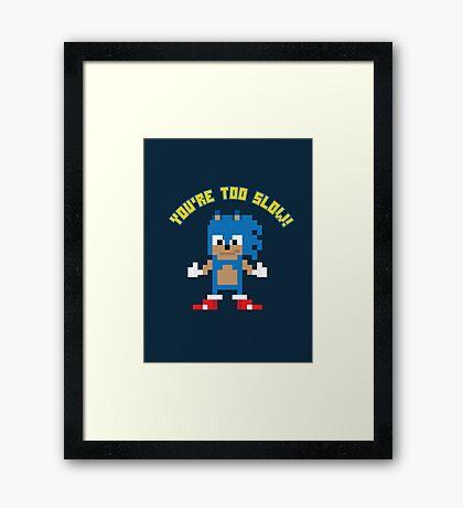 8Bit Sonic Framed Print