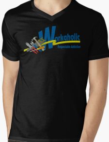 Workaholic - Respectable Addiction Mens V-Neck T-Shirt